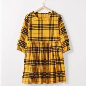 Hanna Andersson Yellow Plaid Dress